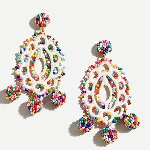 J.crew handmade beaded earrings